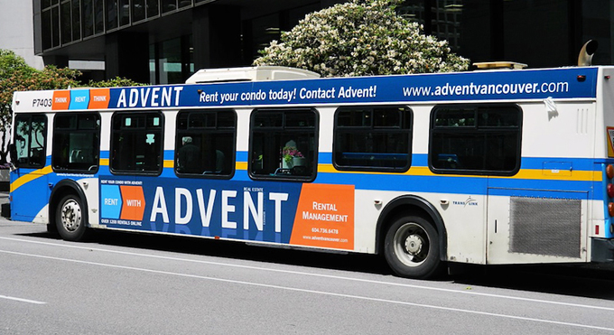 Seen the ADVENT bus around town? Rent your condo with ADVENT today! Call 604.736.6478!