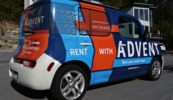 Seen Advent's cars around town? Rent your condo with ADVENT today! Call 604.736.6478!
