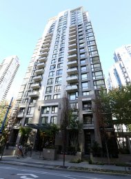 Fully Furnished 1 Bedroom Apartment Rental at The Oscar in Yaletown. 1908 - 1295 Richards Street, Vancouver, BC, Canada.