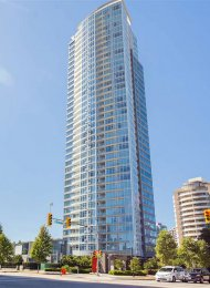 Unfurnished 2 Bedroom Apartment For Rent at Chancellor in Metrotown. 902 - 4880 Bennett Street, Burnaby, BC, Canada.