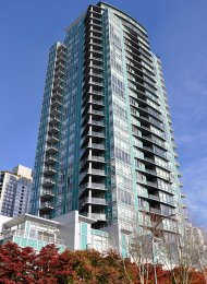 Luxury 11th Floor Water View Unfurnished 2 Bed Apartment Rental at Waterford in Yaletown. 1102-1483 Homer Street, Vancouver, BC, Canada.